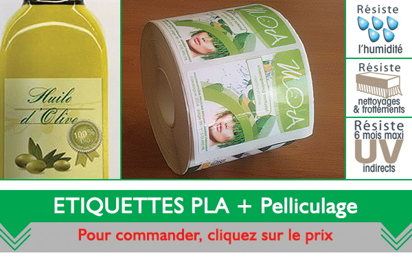 Impression Etiquette PLA biodégradable